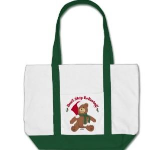 I Believe In Santa Christmas Tote Bags