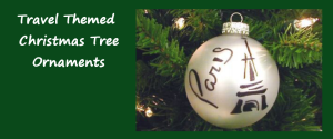 Travel Themed Christmas Tree Ornaments