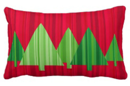 Decorative Christmas Tree Holiday Accent Pillows