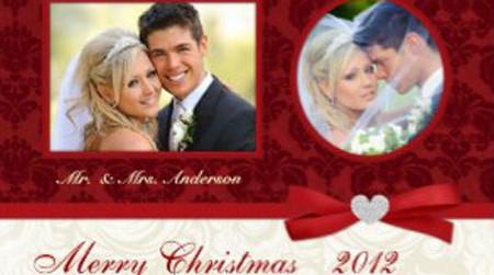 Newlywed Photo Christmas Cards