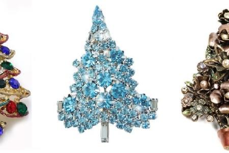 Christmas Tree Brooch Pins