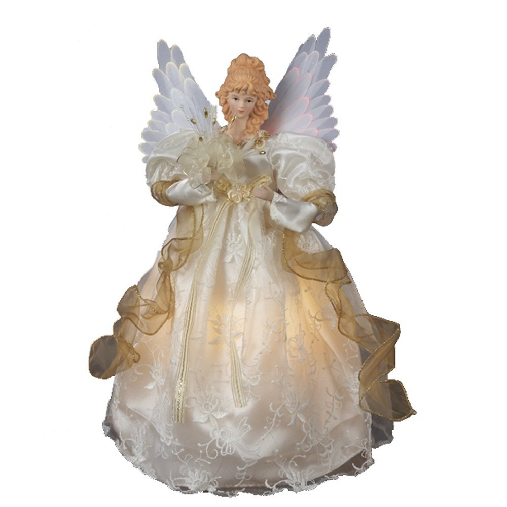 Christmas Tree Angel Tree Topper: Lighted Fiber Optic Angel Tree Toppers