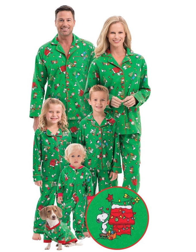 Product Features pajamas for the whole family make for great family photos each holiday.
