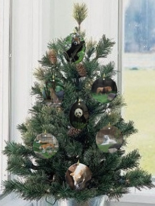 Endangered Species Animal Ornament Christmas tree
