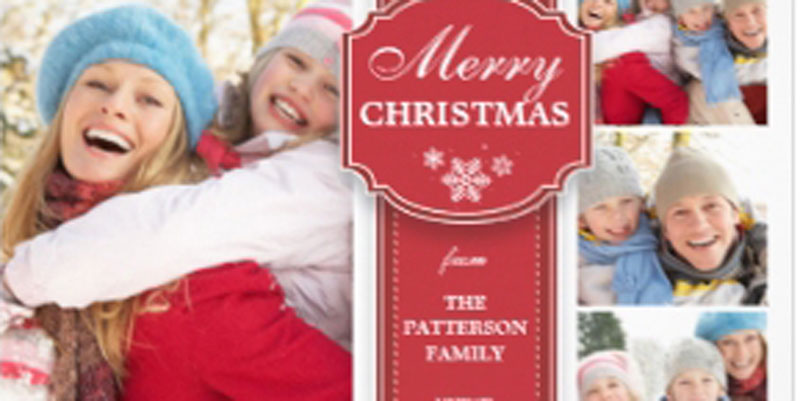 family photo christmas card - Family Photo Christmas Cards