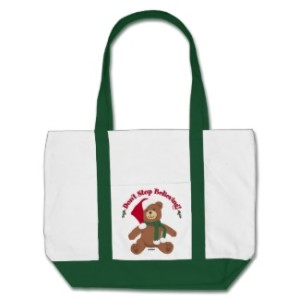 I Believe Santa Christmas Tote Bag