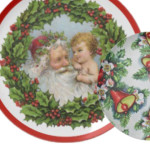 Vintage Christmas Decorative Plates