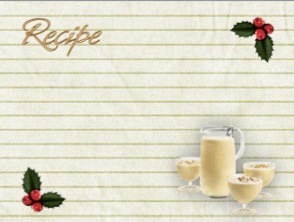 customizable recipe cards