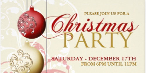 fancy and elegant holiday party invitations, Party invitations