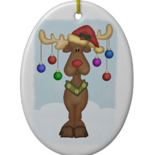 Funny reindeer christmas ornaments for Funny christmas decorations