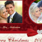 Newlywed Photo Christmas Cards