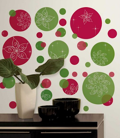 festive dots wall decals