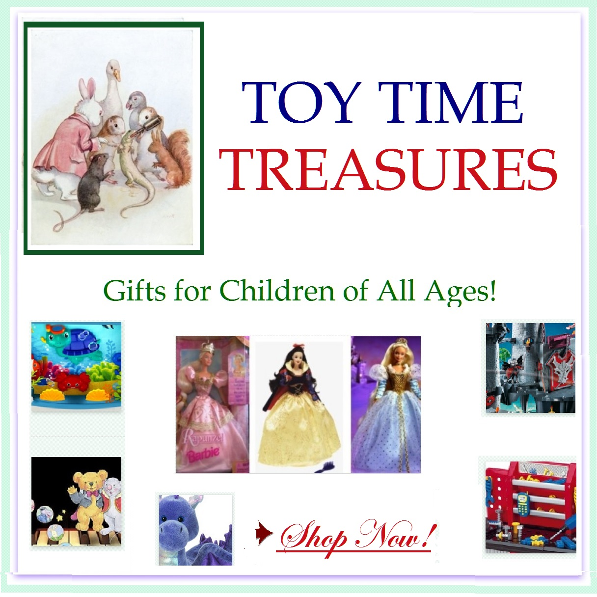 Toy Time Treasures features & recommends the best selection of toys available for our children today. Articles written by experienced mothers focused on safety