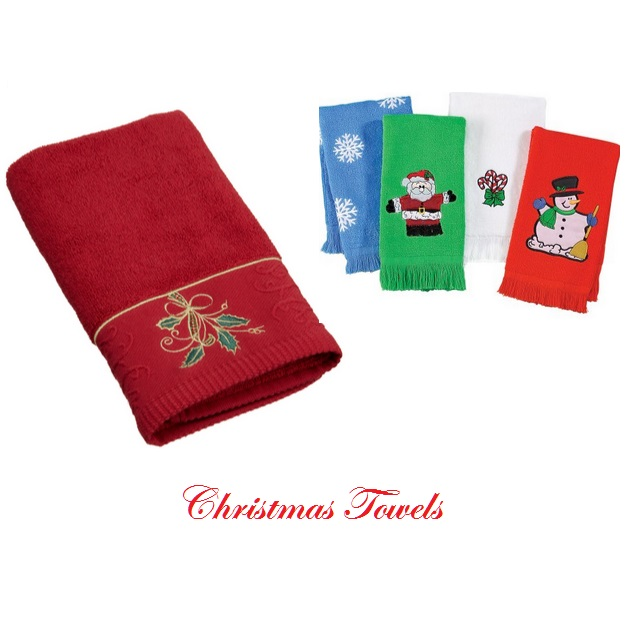 Christmas Bathroom Hand Towels