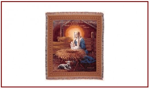 Mary & Jesus throw