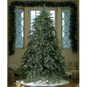 Pre-lit Artificial Christmas Trees with clear white lights