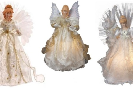 Lighted Fiber Optic Angel Tree Toppers