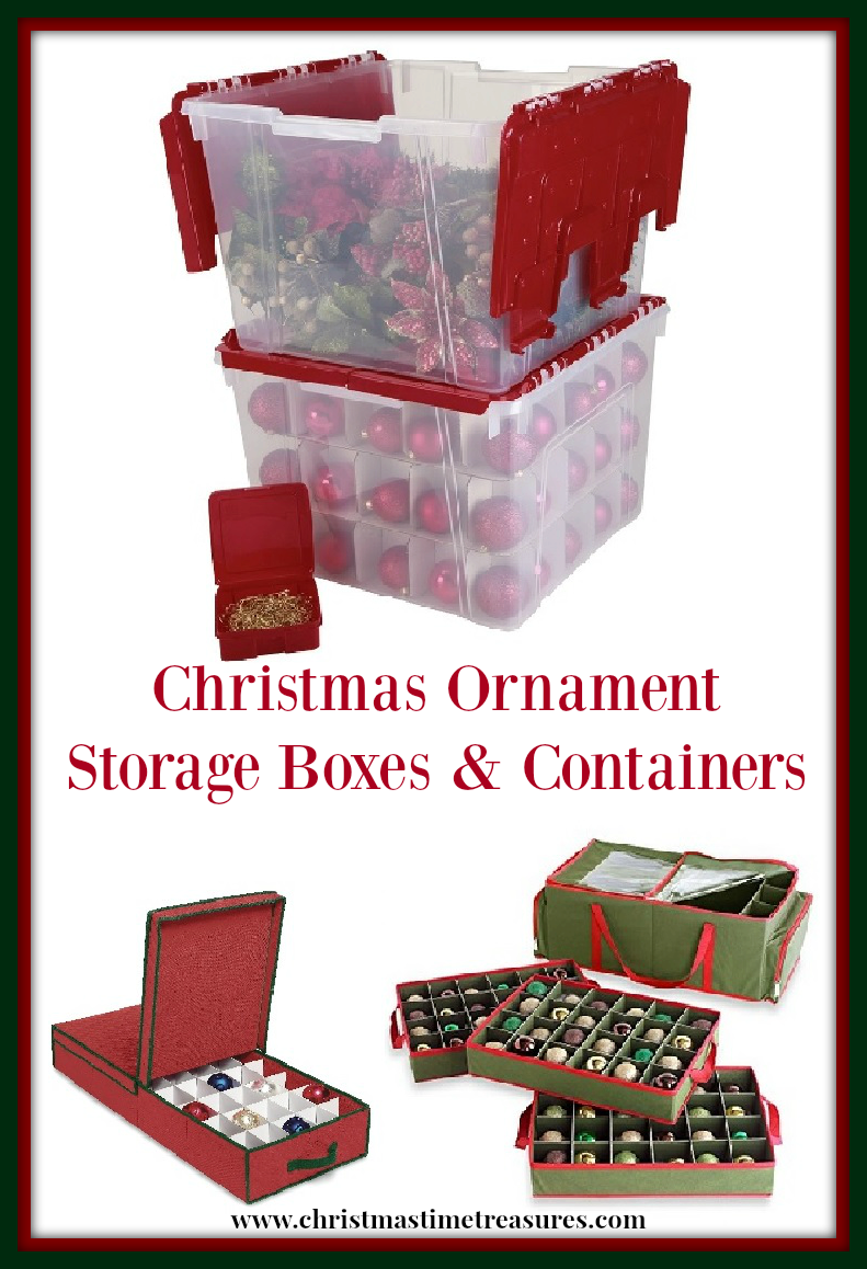 Christmas Ornament Storage Boxes and Containers ...