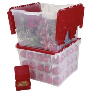 ornament storage box christmas