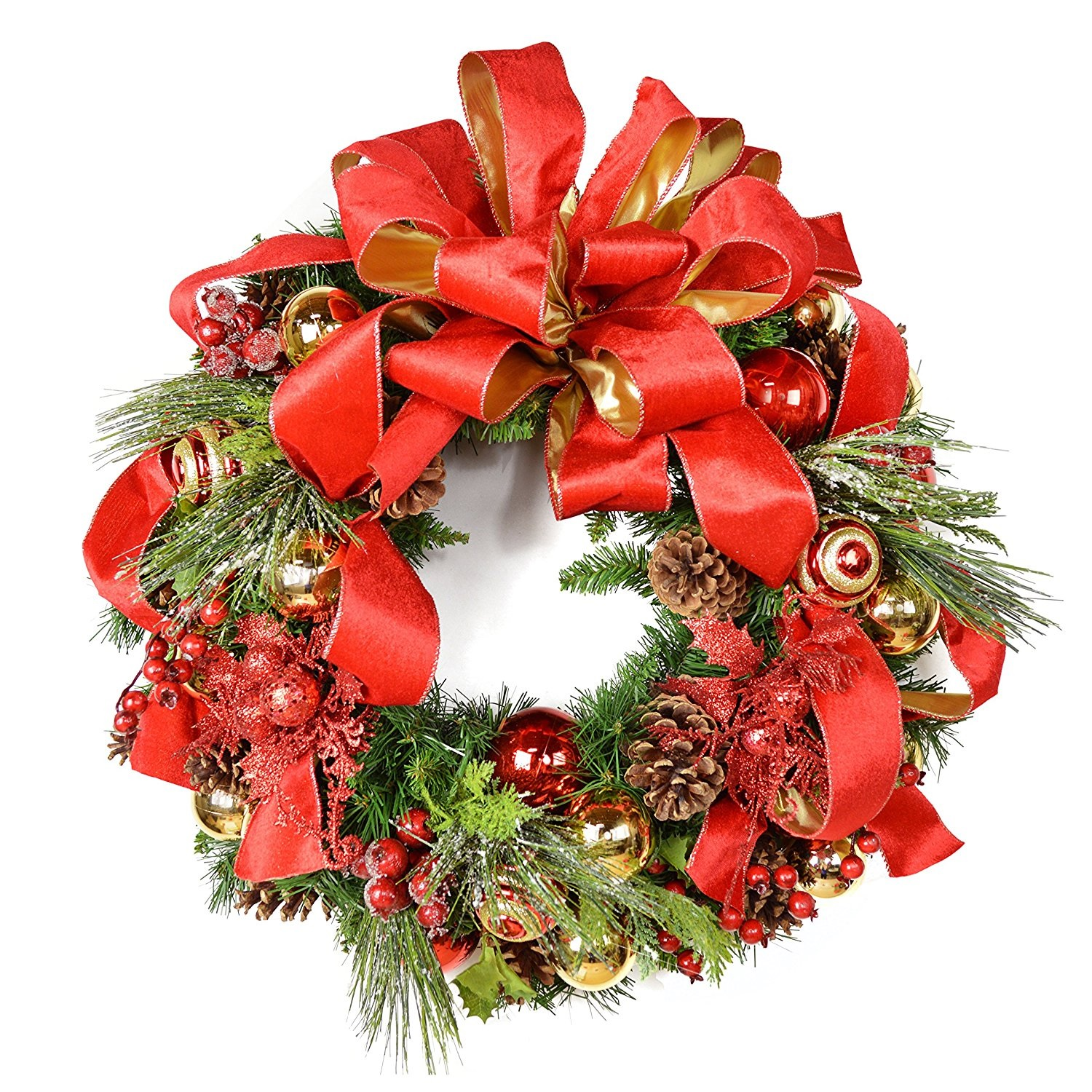Front door christmas wreaths - Decorative Christmas Wreaths For The Front Door