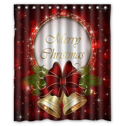 Holiday shower curtains