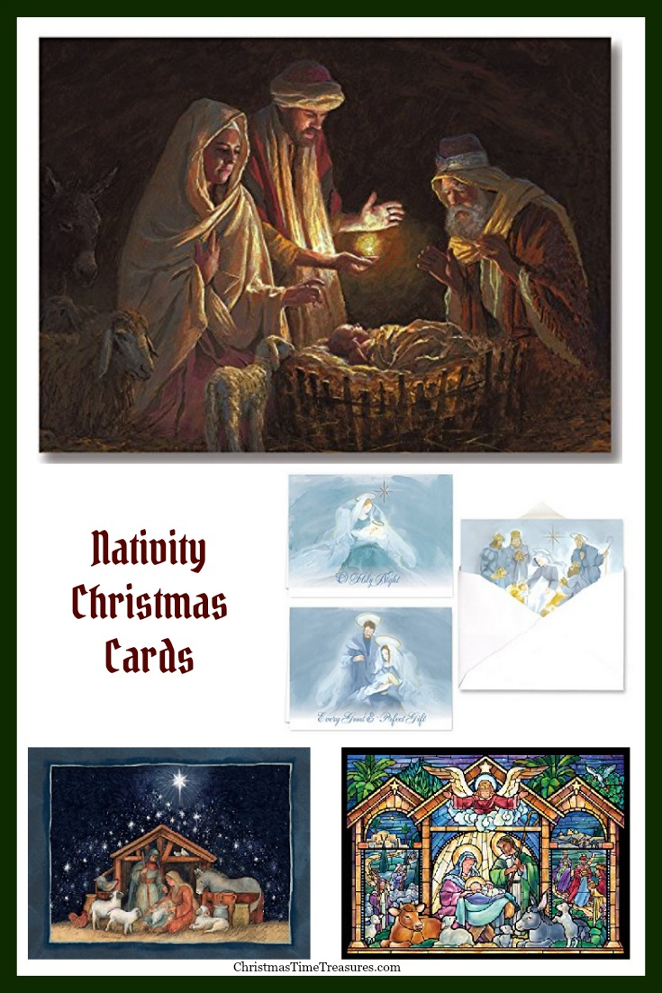 Christmas cards featuring the Nativity