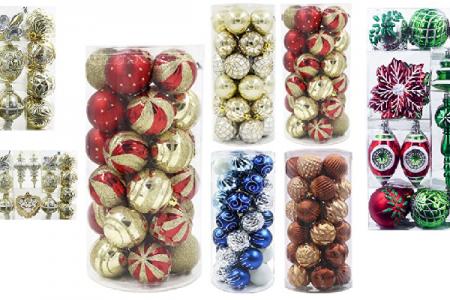 prepackaged coordinating christmas tree ornaments - Christmas Tree Ornaments Sets