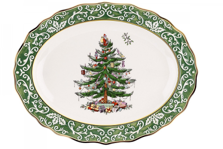 beautiful christmas serving platters